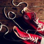 靴ひもは☆に結ぶと新鮮